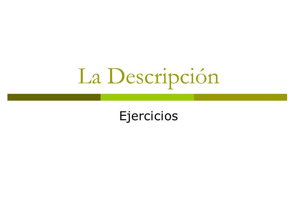 La Descripción Ejercicios