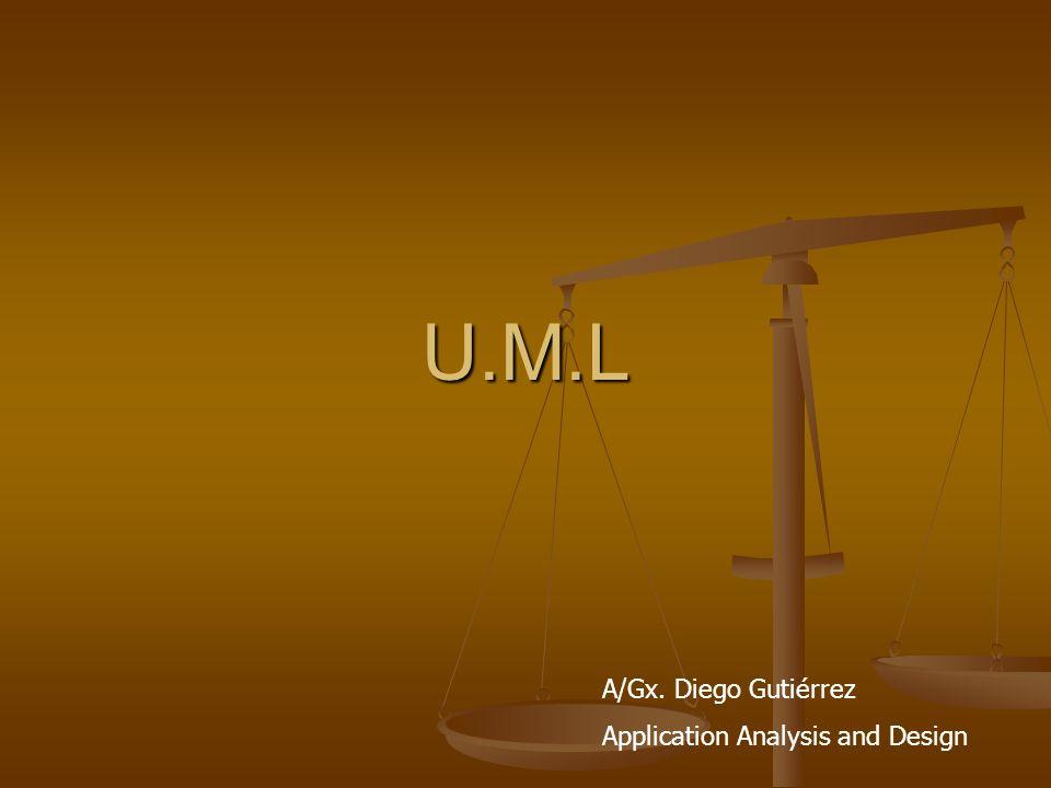 U.M.L Unified Modeling Languaje (U.M.L) Es un lenguaje para especificar, construir, visualizar y documentar los artefactos de un sistema de software orientado a objetos y eventos (OO)- (OE).