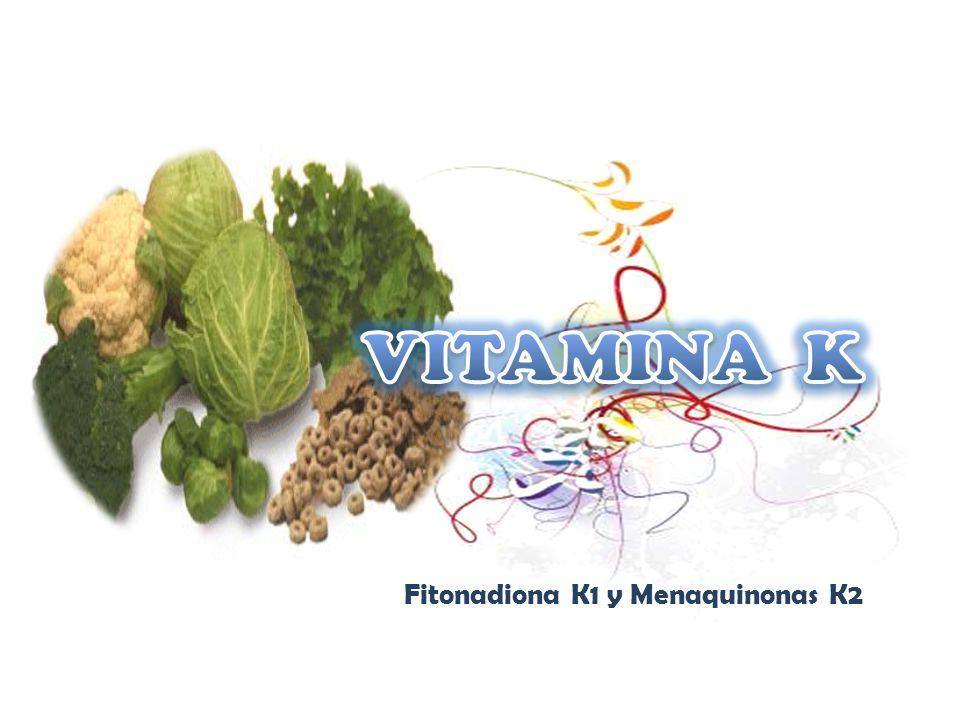 Fitonadiona K1 y Menaquinonas K2