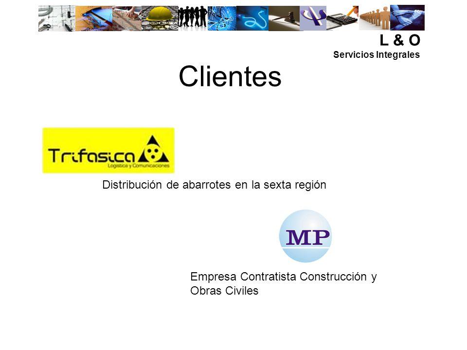 L & O Servicios Integrales L & O Bueras #155, Rancagua Fono: 532514-85319707 @: asesoriasyconsultora@hotmail.com