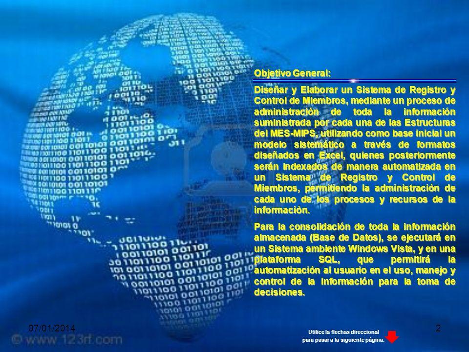 07/01/201413 FASE 4 Montaje de Sistema de Registro y Control de Miembros Entrega y Montaje del Sistema de Registro y Control de Miembros a cada una de las Estructuras del MES y MIPS.