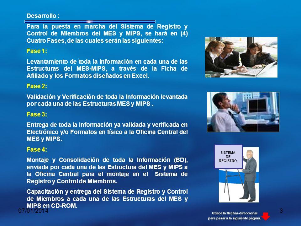07/01/20144 JUNTA DIRECTIVA NACIONAL JUNTA DIRECTIVA GENERAL DISTRITAL JUNTA DIRECTIVA GENERAL MUNICIPAL JUNTA DIRECTIVA GENERAL DEPARTAMENTAL JUNTA DIRECTIVA DISTRITO JUNTA DIRECTIVA DE MUNICIPO JUNTA DIRECTIVA DE DEPARTAMENTO PROPUESTA ORGANIZATIVA POR ESTRUCTURA PROPUESTA ORGANIZATIVA POR ESTRUCTURA JUNTAS DIRECTIVAS FUNCIONAL DE TRABAJO MES-MIPS NACIONAL COORDINADOR GENERAL MANAGUA URBANA COORDINADOR GENERAL MANAGUA MUNICIPIO COORDINADOR GENERAL DEPARTAMENTOS SECRETAR Í A EJECUTIVA Utilice la flechas direccional para pasar a la siguiente página.