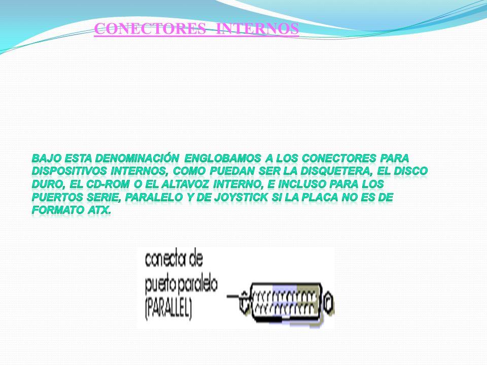 Teclado Bien para clavija DIN ancha, propio de las placas Baby- AT, o mini-DIN en placas ATX. Puerto paralelo (LPT1) Es un conector hembra de unos 38