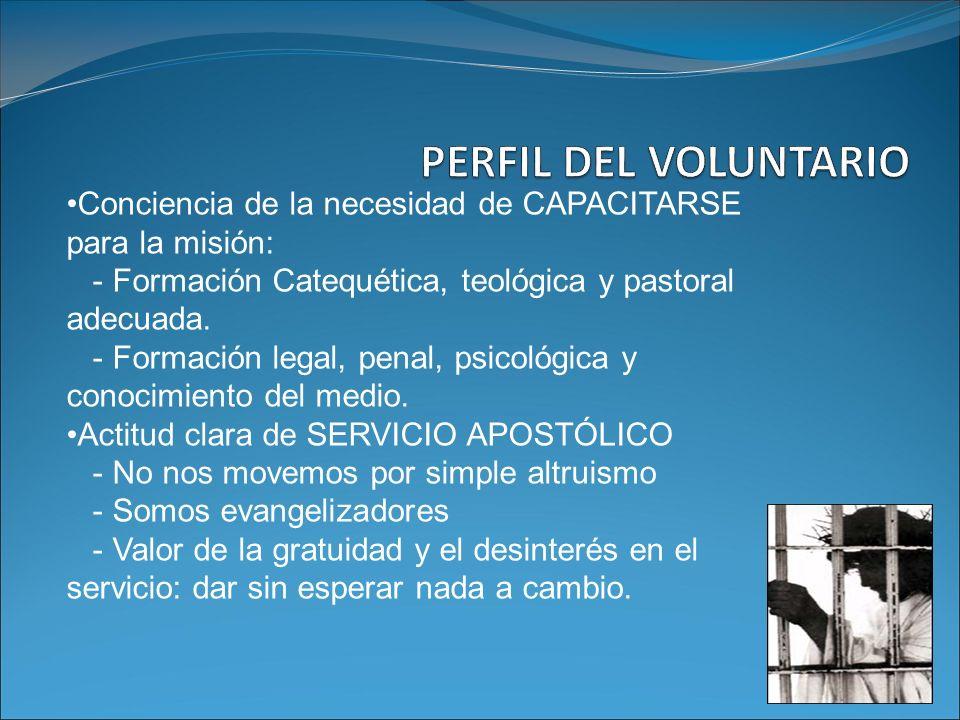 Conciencia de la necesidad de CAPACITARSE para la misión: - Formación Catequética, teológica y pastoral adecuada. - Formación legal, penal, psicológic