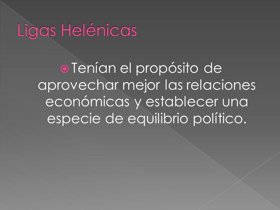 Tenían el propósito de aprovechar mejor las relaciones económicas y establecer una especie de equilibrio político.