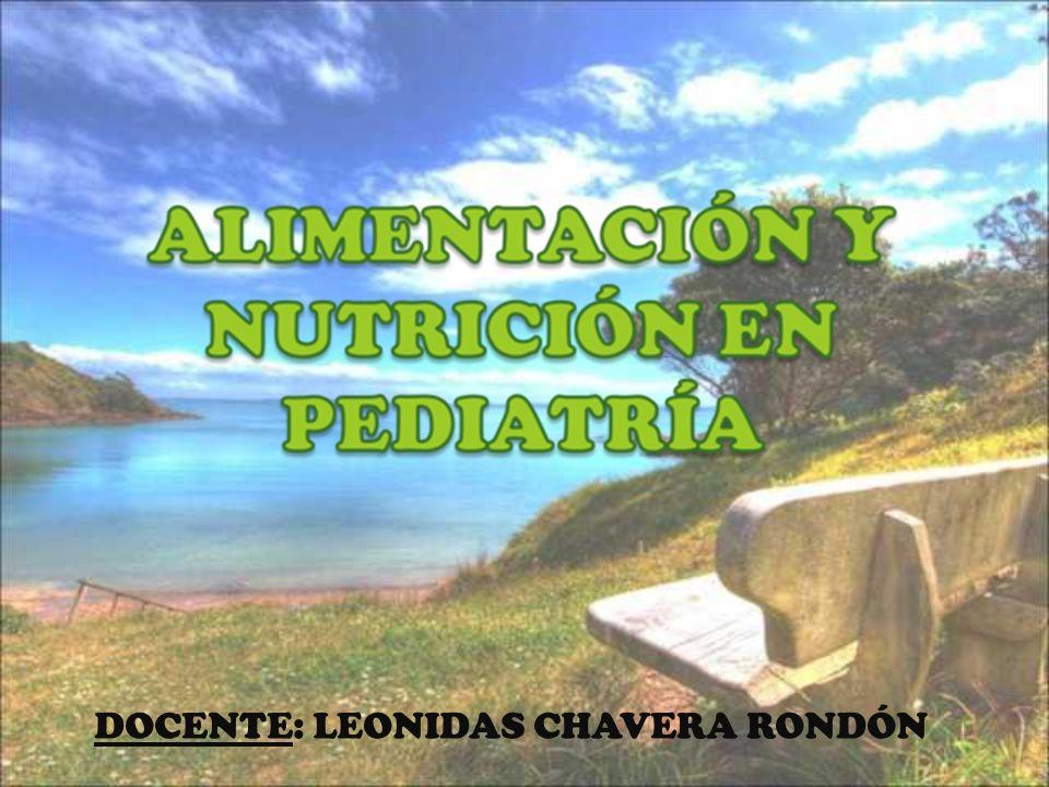 DOCENTE: LEONIDAS CHAVERA RONDÓN