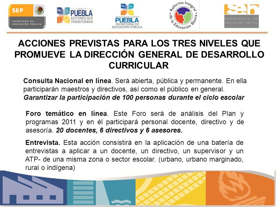 Consulta Nacional en línea. Será abierta, pública y permanente. En ella participarán maestros y directivos, así como el público en general. Garantizar