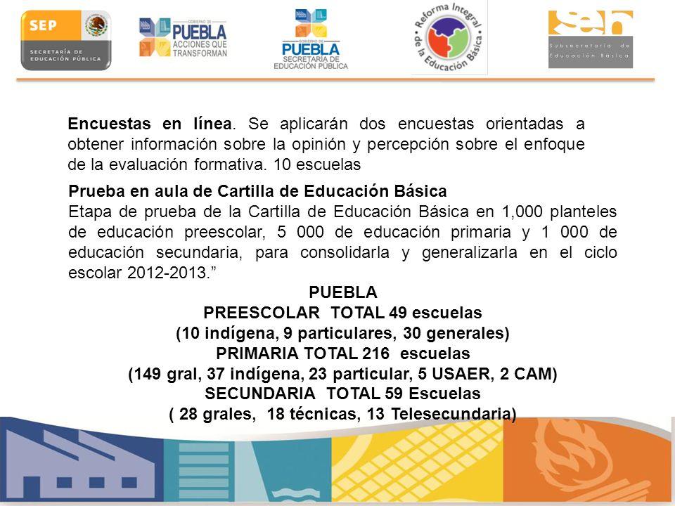 Prueba en aula de Cartilla de Educación Básica Etapa de prueba de la Cartilla de Educación Básica en 1,000 planteles de educación preescolar, 5 000 de