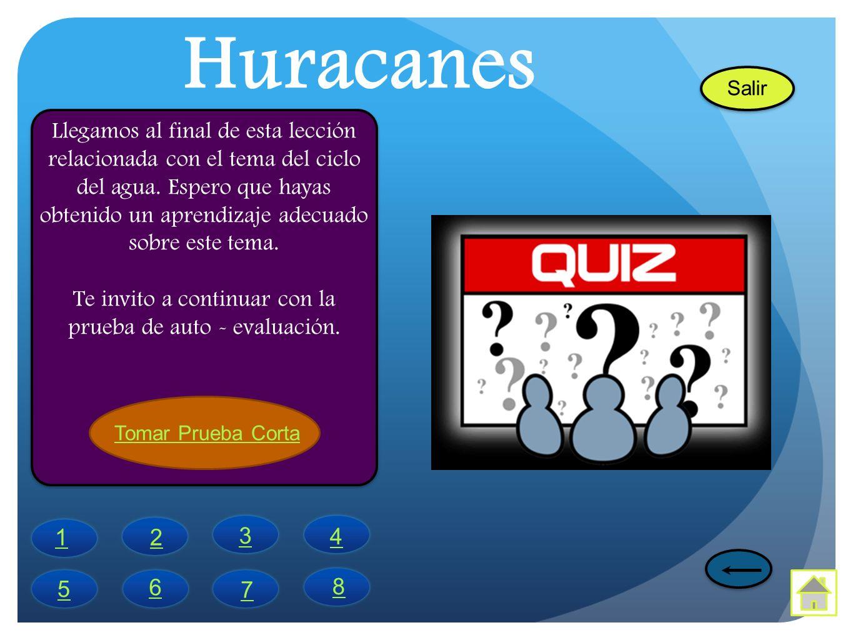 Huracanes Llegamos al final de esta lección relacionada con el tema del ciclo del agua. Espero que hayas obtenido un aprendizaje adecuado sobre este t