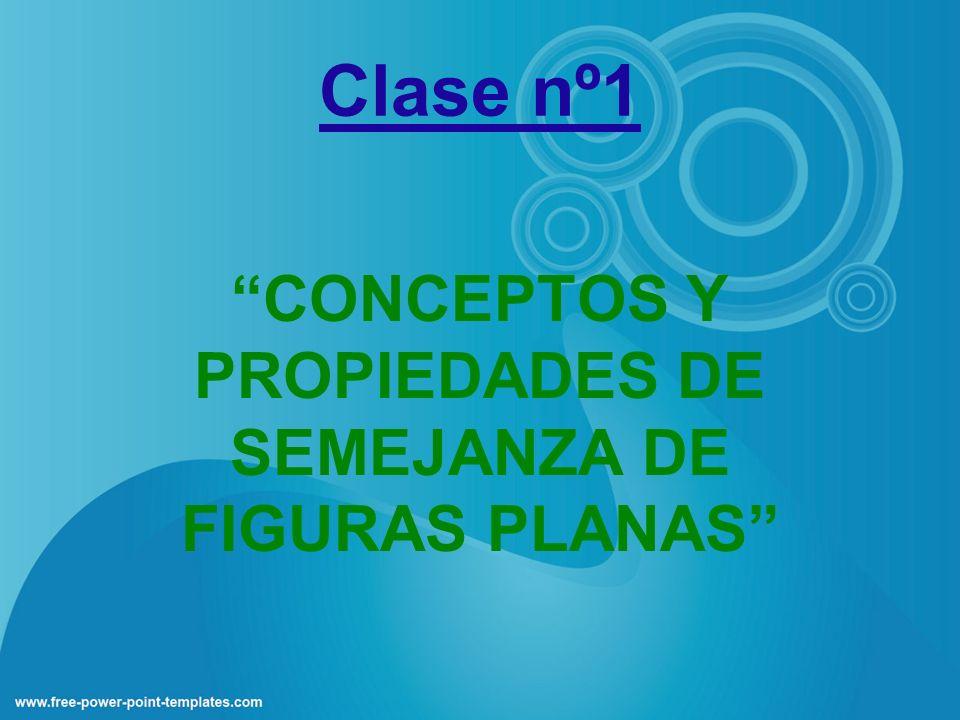 Clase nº1 CONCEPTOS Y PROPIEDADES DE SEMEJANZA DE FIGURAS PLANAS