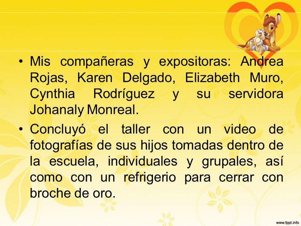 Mis compañeras y expositoras: Andrea Rojas, Karen Delgado, Elizabeth Muro, Cynthia Rodríguez y su servidora Johanaly Monreal. Concluyó el taller con u
