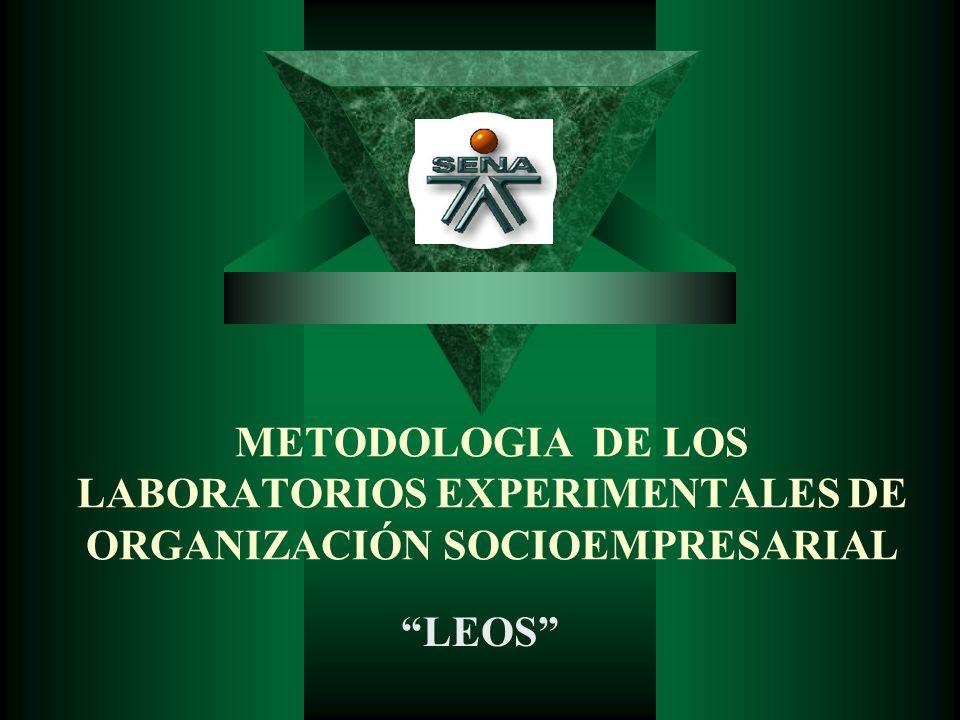 METODOLOGIA DE LOS LABORATORIOS EXPERIMENTALES DE ORGANIZACIÓN SOCIOEMPRESARIAL LEOS