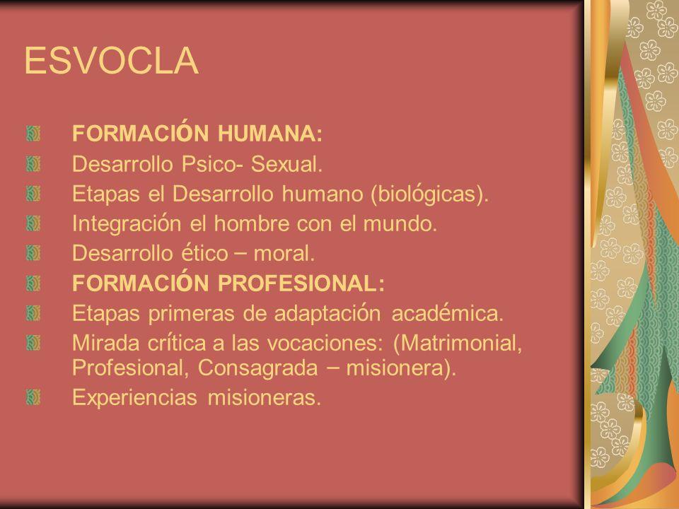 ESVOCLA FORMACI Ó N HUMANA: Desarrollo Psico- Sexual.