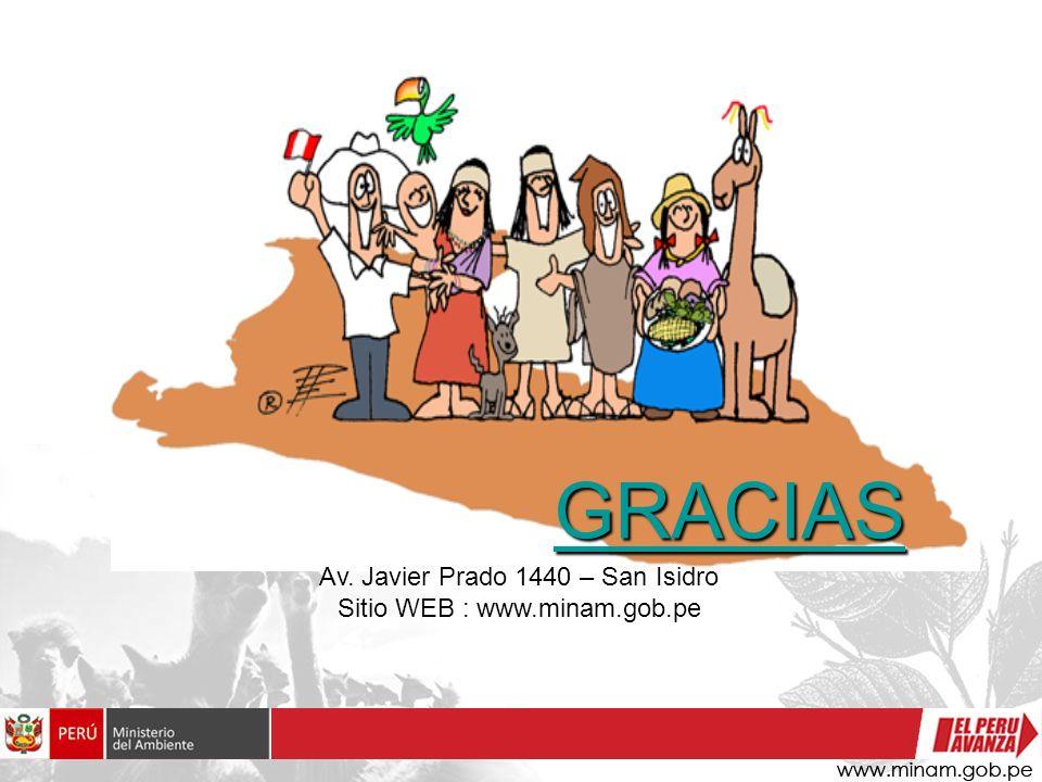 GRACIAS GRACIAS Av. Javier Prado 1440 – San Isidro Sitio WEB : www.minam.gob.pe