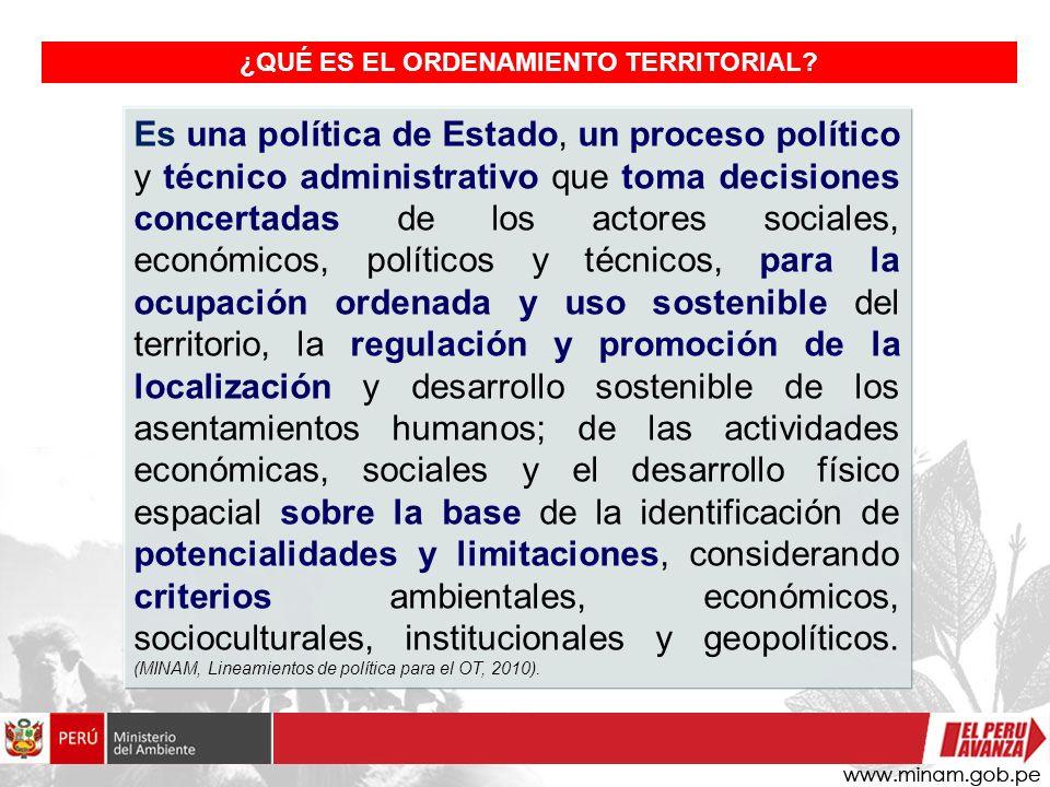 Es una política de Estado, un proceso político y técnico administrativo que toma decisiones concertadas de los actores sociales, económicos, políticos