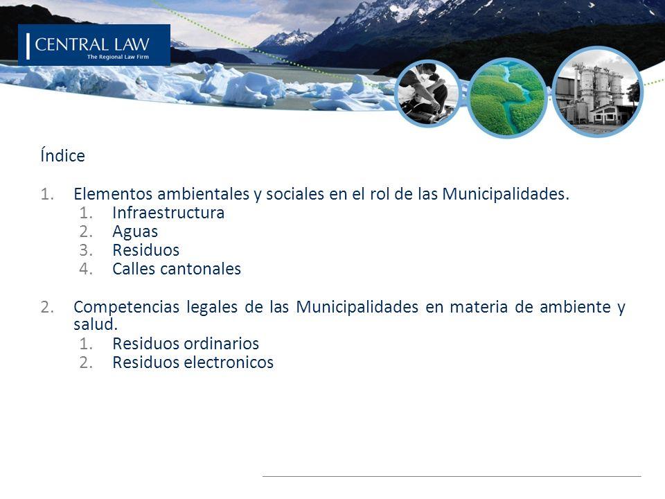 © 2008 ECOSECURITIES GROUP PLC Índice 1.Elementos ambientales y sociales en el rol de las Municipalidades. 1.Infraestructura 2.Aguas 3.Residuos 4.Call