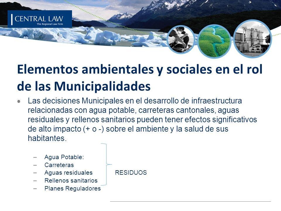 © 2008 ECOSECURITIES GROUP PLC Elementos ambientales y sociales en el rol de las Municipalidades Las decisiones Municipales en el desarrollo de infrae