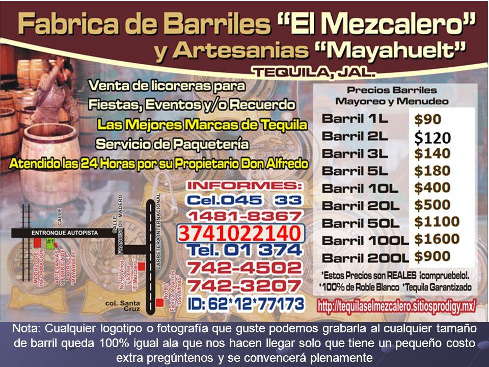BARRIL DE 1 LITRO (Precios en la primer página)