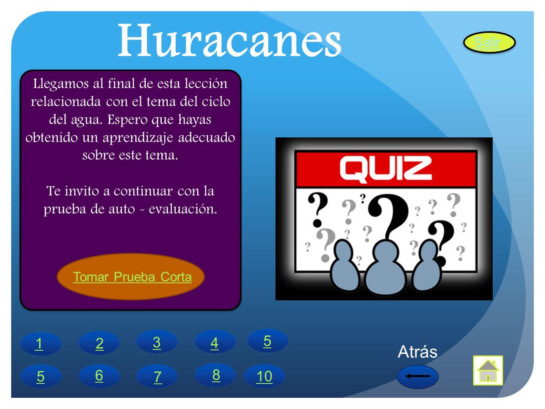 Quiz 1.El termino huracán proviene de los indios del Caribe que lo llamaban Hunraken.