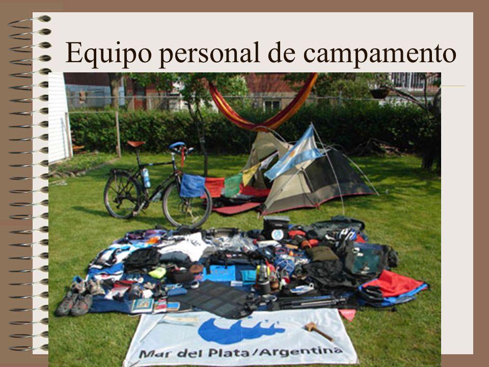Equipo personal de campamento