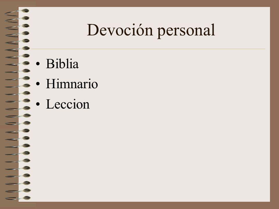 Devoción personal Biblia Himnario Leccion