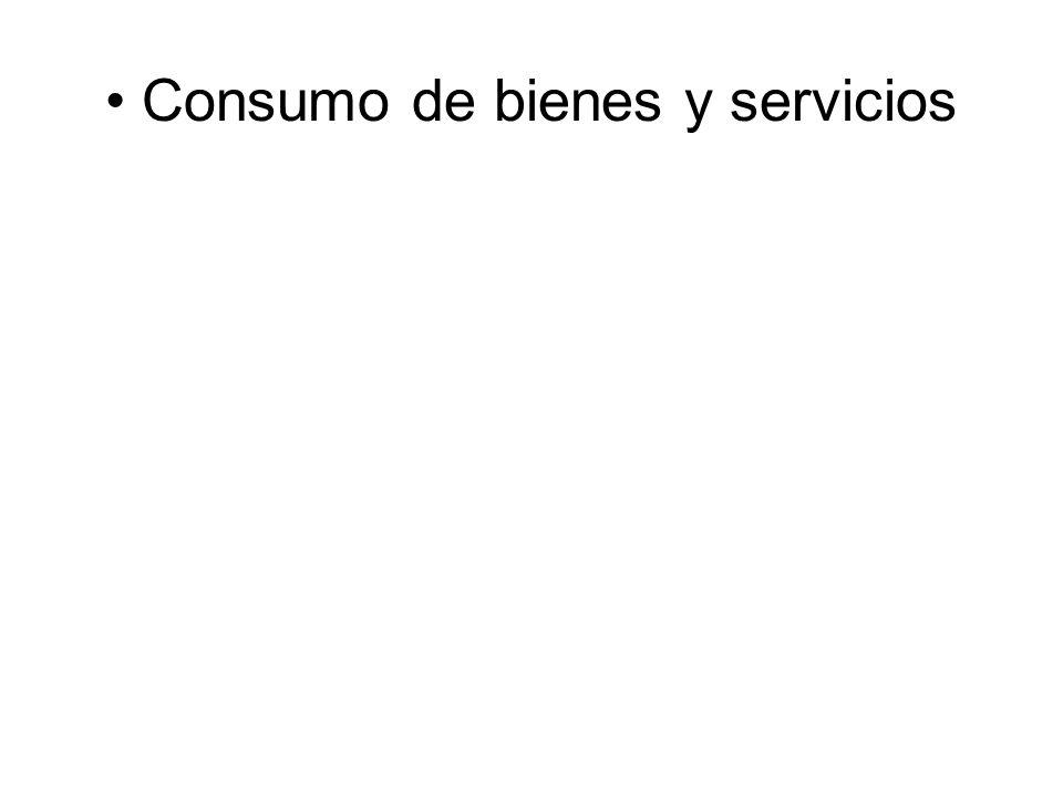 Consumo de bienes y servicios