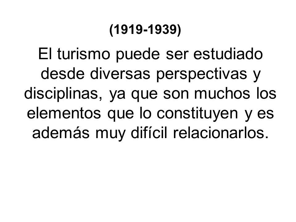En 1982, Mathieson y Wall realizan una definición bastante parecida a la anterior.