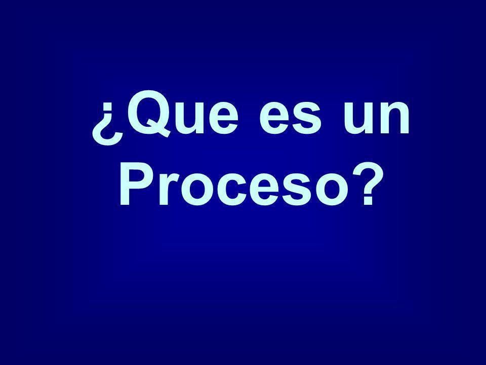 ¿Que es un Proceso?
