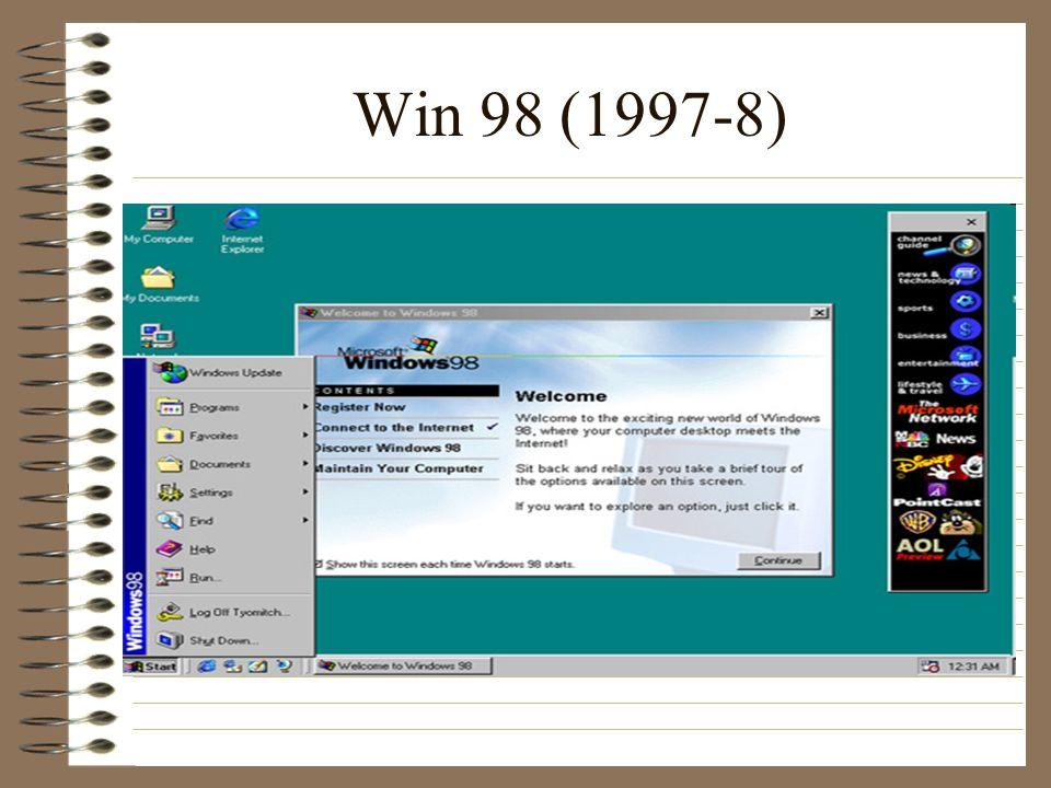 Win 98 (1997-8)