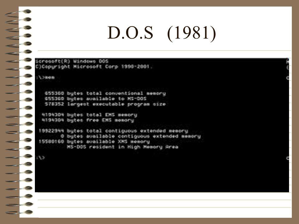 D.O.S (1981)