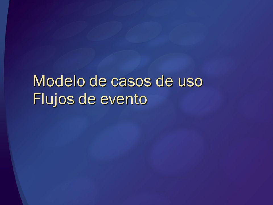 Modelo de casos de uso Flujos de evento