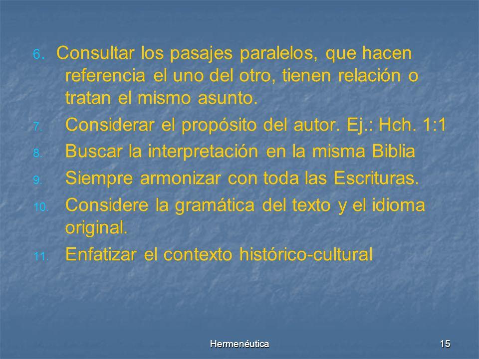 Hermenéutica14 Estructura Literaria SUBTITULO TITULO (tema central) Idea Argumento 2 Idea Argumento 1