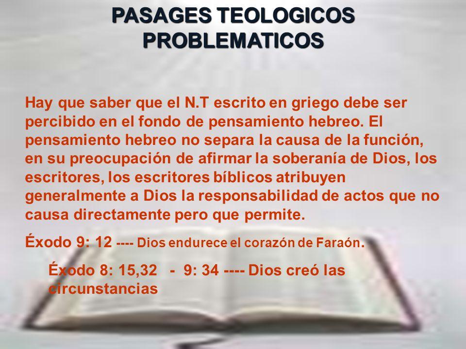 Hermenéutica26 PASAGES TEOLOGICOS PROBLEMATICOS Frente a un pasaje bíblico aparentemente problemático ( (que toca el carácter de Dios), pregúntese: º