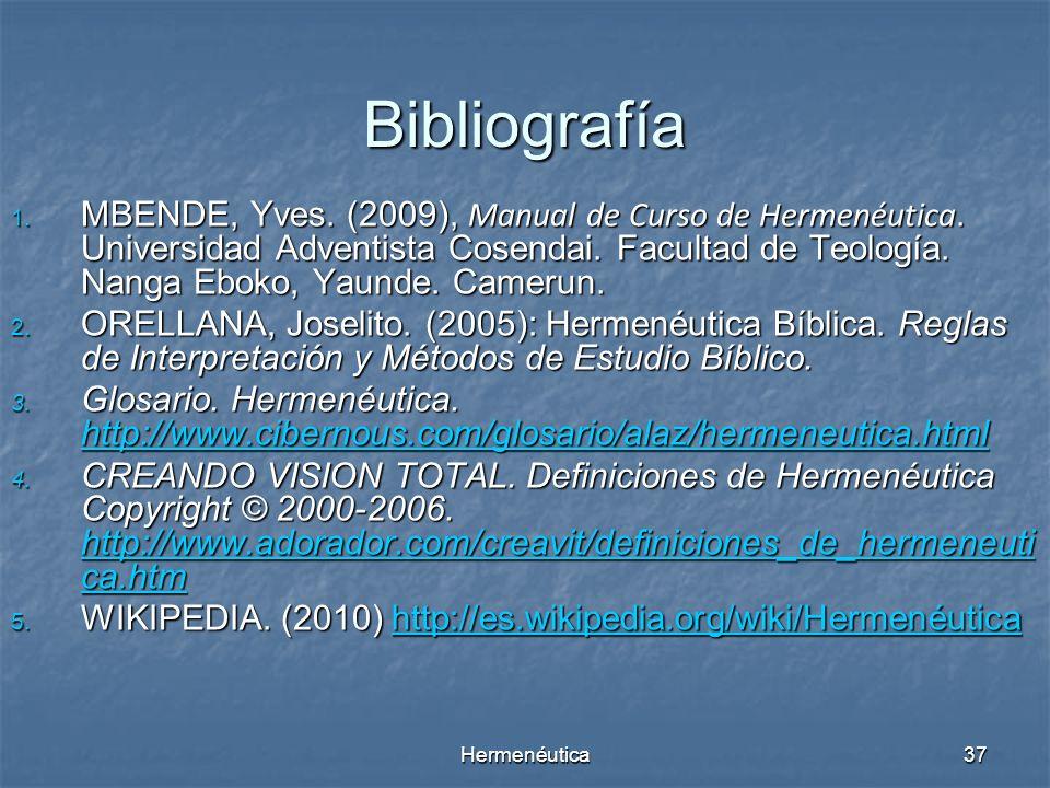 Hermenéutica36 6. La naturaleza de las Escrituras es condicionada por el tiempo y por la cultura. La Biblia contiene pero no es la Palabra de Dios. La
