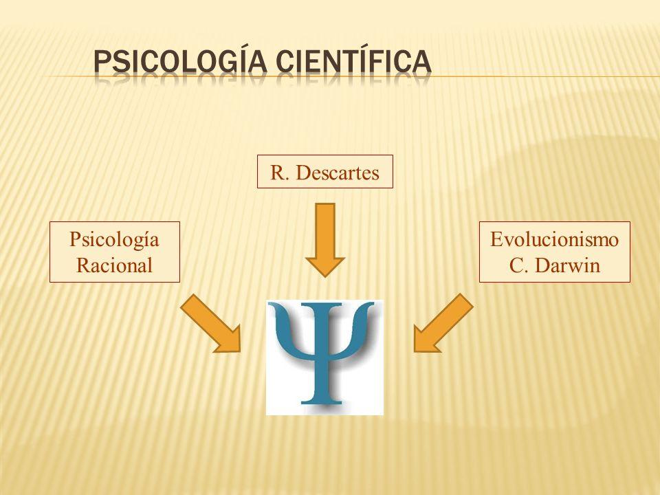 Psicología Racional R. Descartes Evolucionismo C. Darwin
