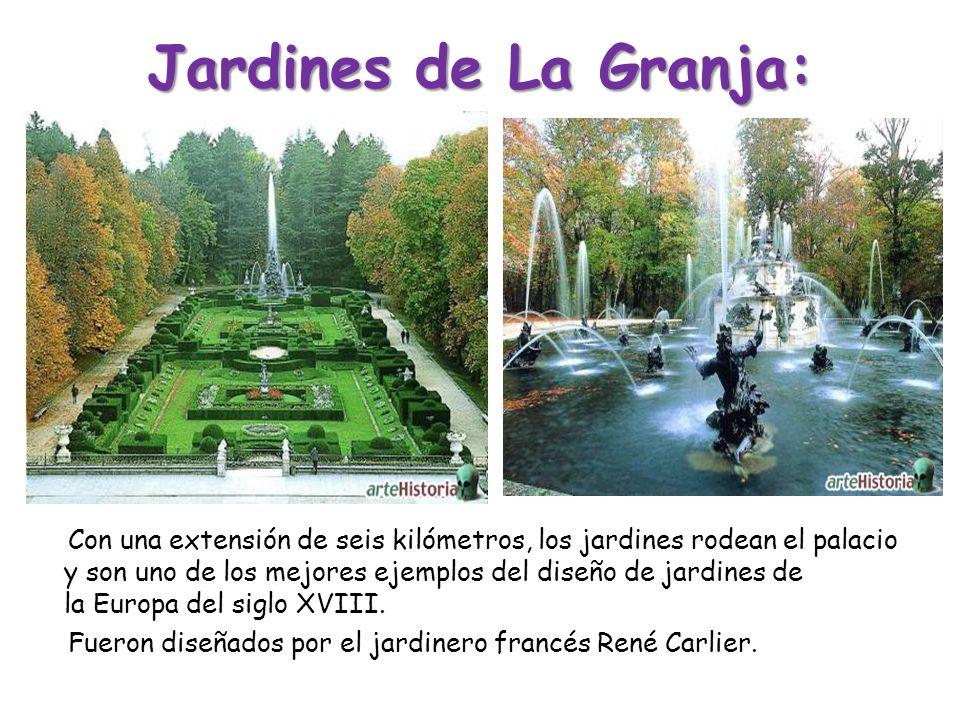 Jardines de La Granja: Con una extensión de seis kilómetros, los jardines rodean el palacio y son uno de los mejores ejemplos del diseño de jardines d