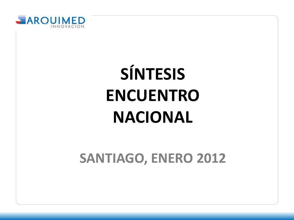 SÍNTESIS ENCUENTRO NACIONAL SANTIAGO, ENERO 2012