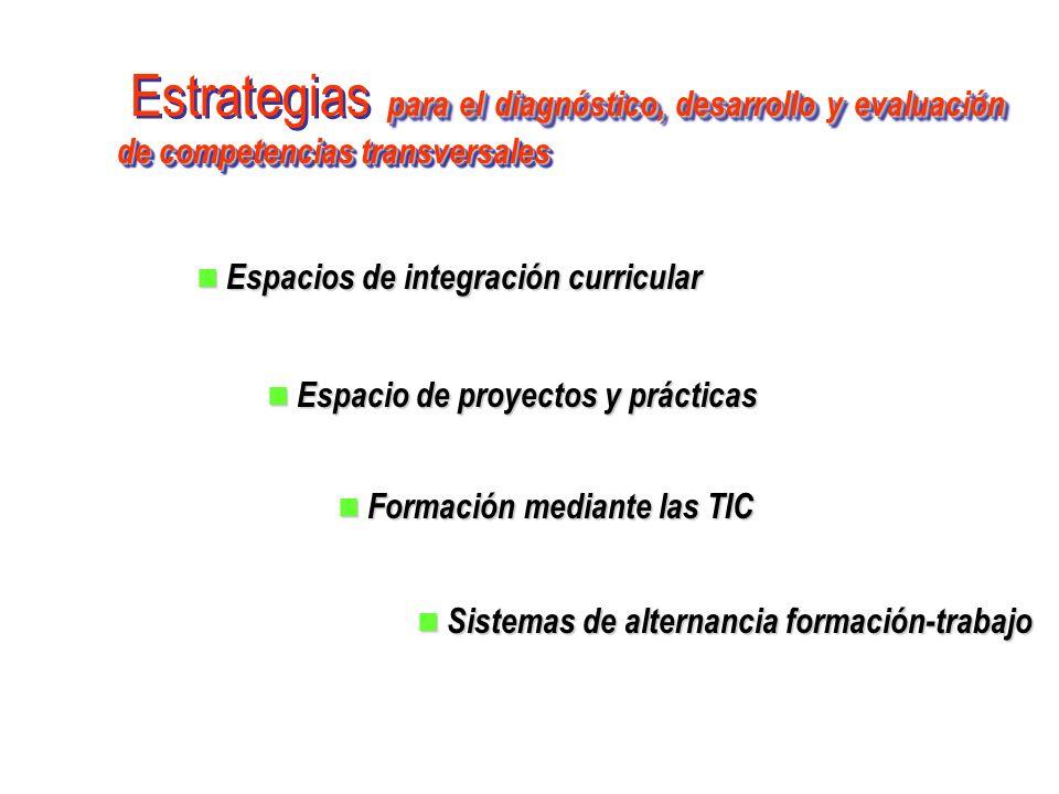 para el diagnóstico, desarrollo y evaluación de competencias transversales Estrategias para el diagnóstico, desarrollo y evaluación de competencias tr