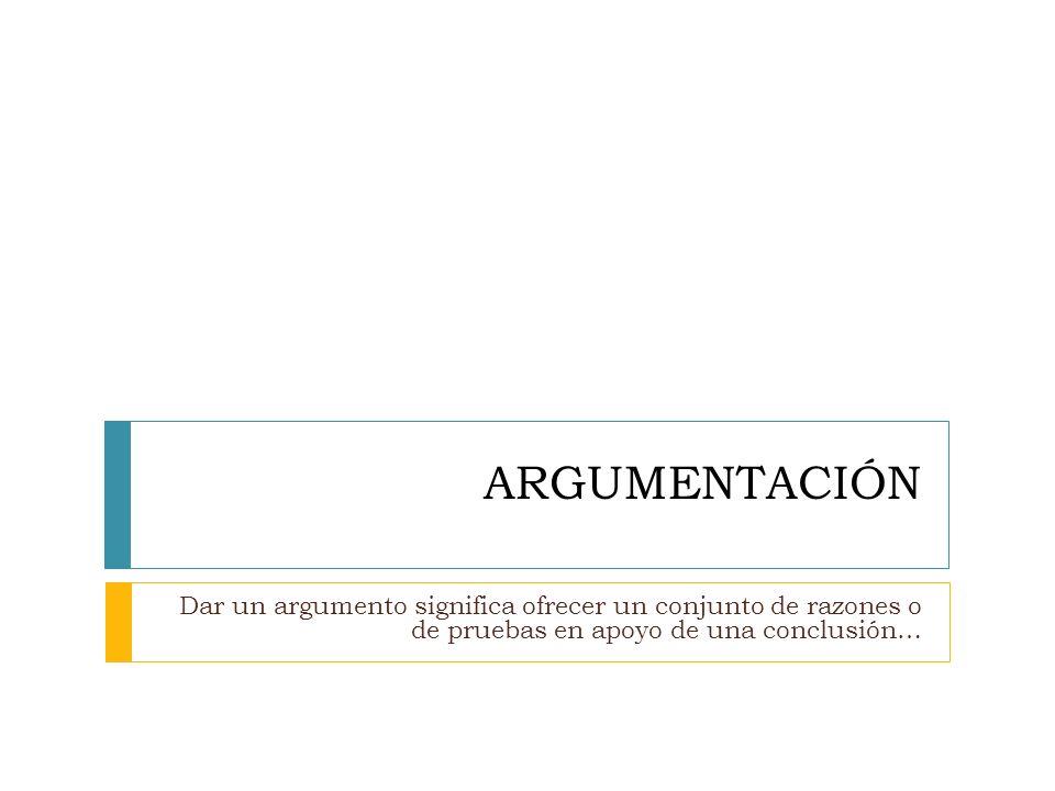 DEDUCCIÓN Un argumento es LÓGICAMENTE CORRECTO o DEDUCTIVO cuando las premisas IMPLICAN la conclusión.