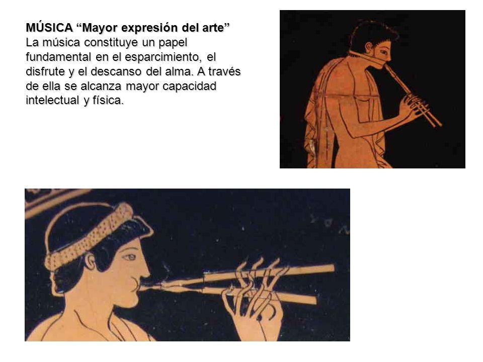 MÚSICA Mayor expresión del arte La música constituye un papel fundamental en el esparcimiento, el disfrute y el descanso del alma. A través de ella se