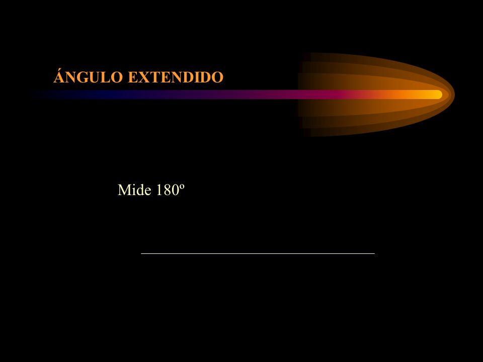 ÁNGULO CONCAVO Mide más de 180º y menos de 360º