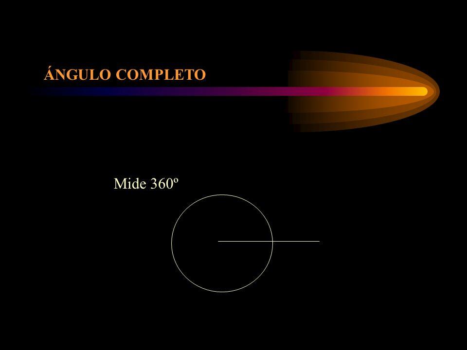 ÁNGULO COMPLETO Mide 360º