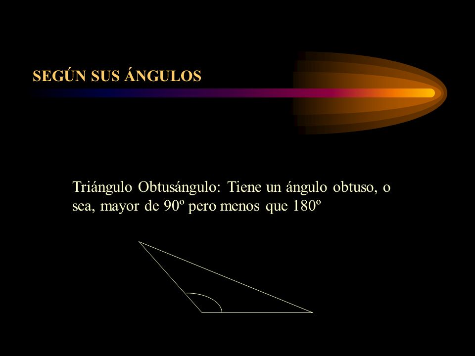 Triángulo Rectángulo: Tiene un ángulo recto, es decir, de 90º.