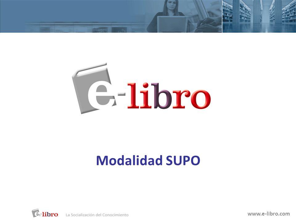 Modalidad SUPO www.e-libro.com