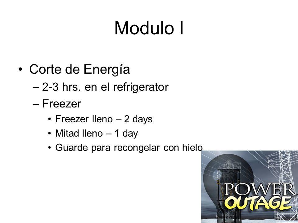 Modulo I Corte de Energía –2-3 hrs.