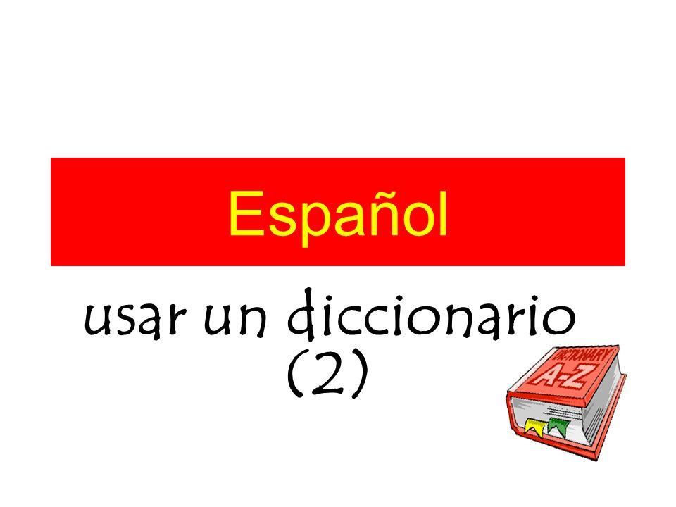 Español usar un diccionario (2)