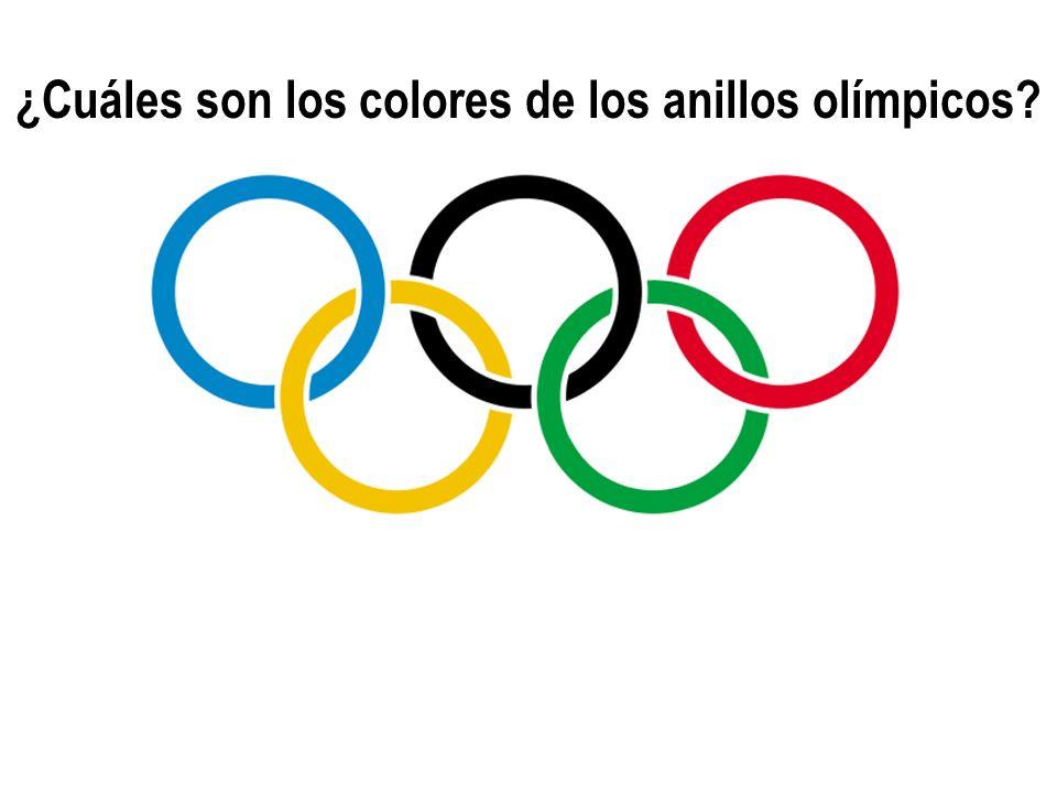 ¿Cuáles son los colores de los anillos olímpicos?