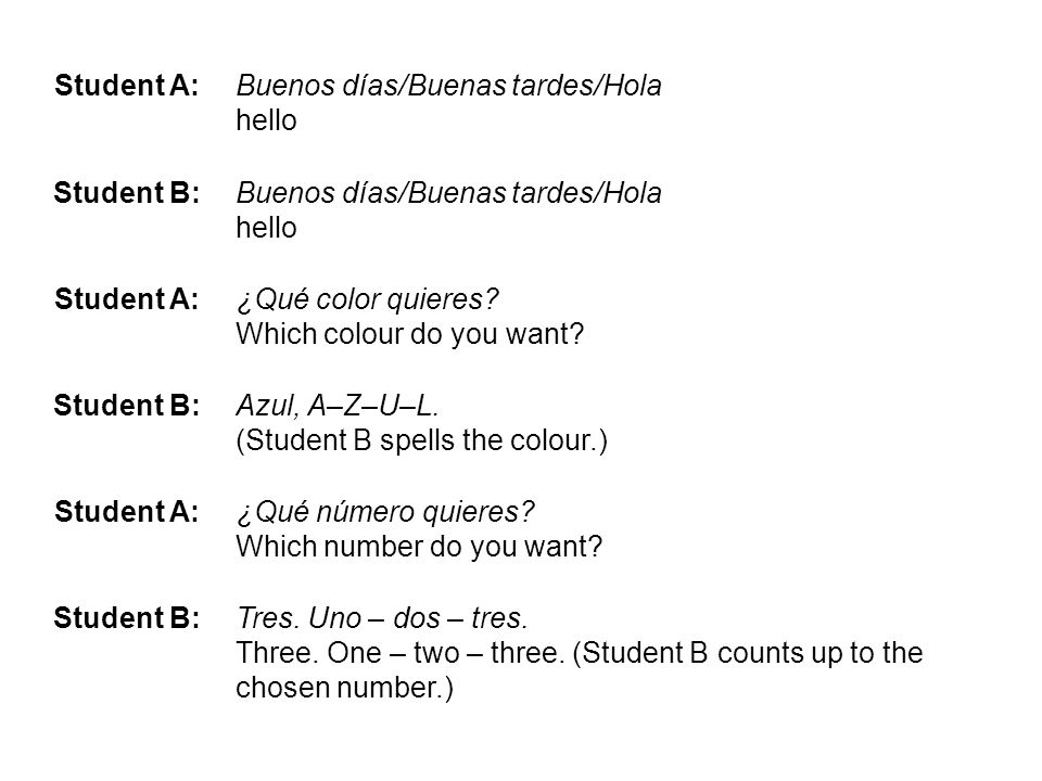 From here there could be different language.Choose either to write 8 x different questions e.g.