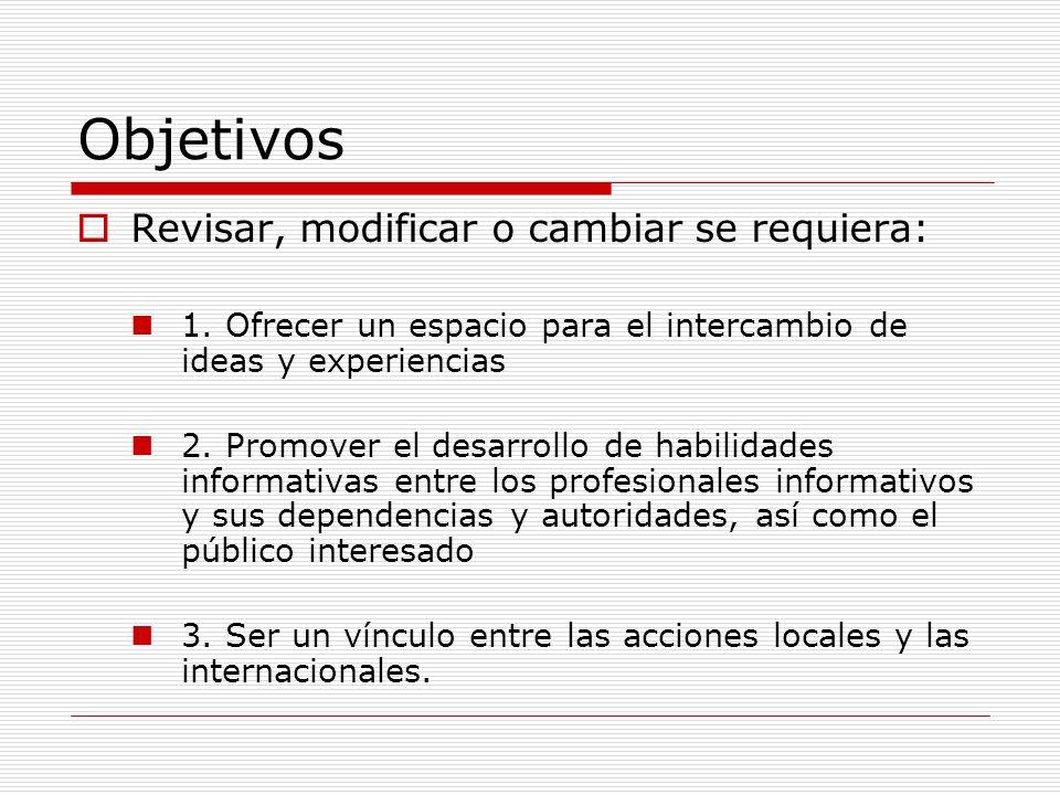 1.Objetivo y metas: Intercambio de ideas 1.