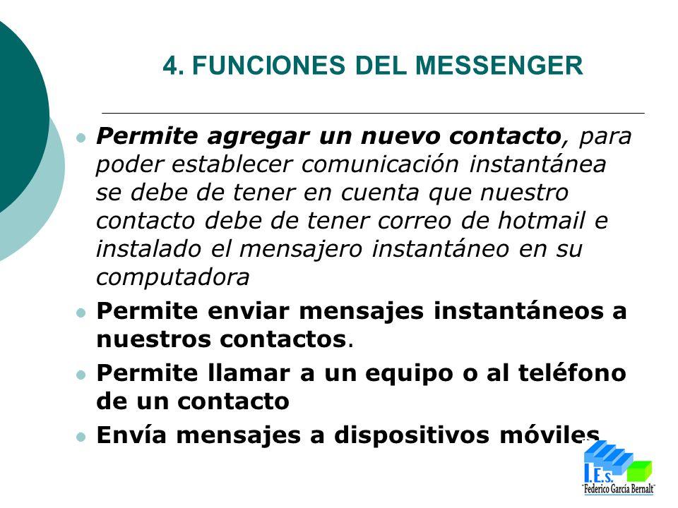 Permite agregar un nuevo contacto, para poder establecer comunicación instantánea se debe de tener en cuenta que nuestro contacto debe de tener correo